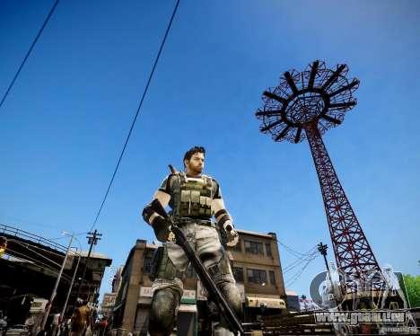 Chris from Resident Evil 5 pour GTA 4 troisième écran