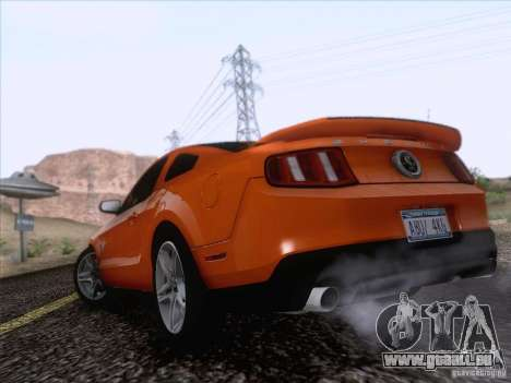 Ford Shelby Mustang GT500 2010 für GTA San Andreas linke Ansicht