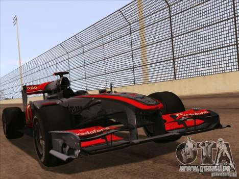 McLaren MP4-25 F1 für GTA San Andreas