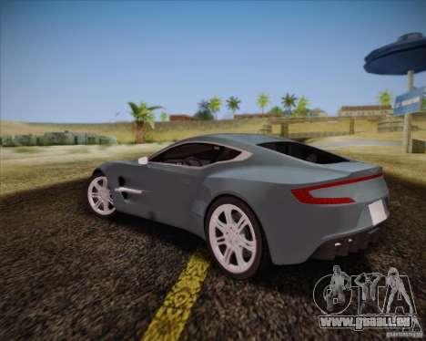 Aston Martin One-77 pour GTA San Andreas vue de droite