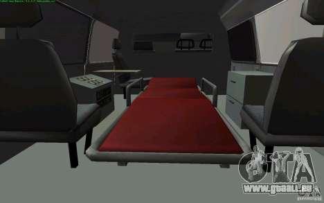 Gazelle 22172 Krankenwagen für GTA San Andreas rechten Ansicht
