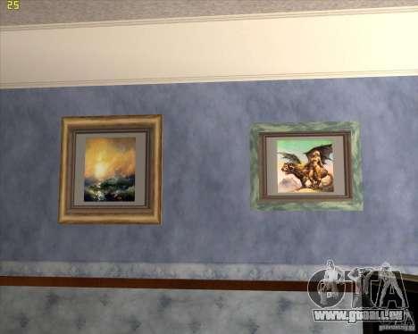 Gemälde im Haus CJ für GTA San Andreas her Screenshot