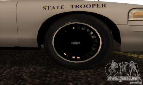 Ford Crown Alabama Police für GTA San Andreas rechten Ansicht
