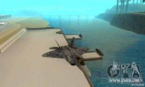 F-22 Starscream für GTA San Andreas Seitenansicht