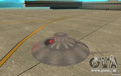 UFO Atack pour GTA San Andreas sur la vue arrière gauche