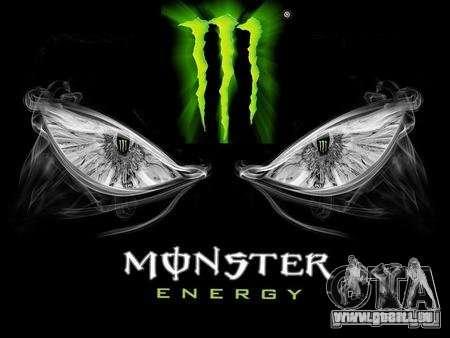 Boot-Screen Monster Energy für GTA San Andreas zweiten Screenshot