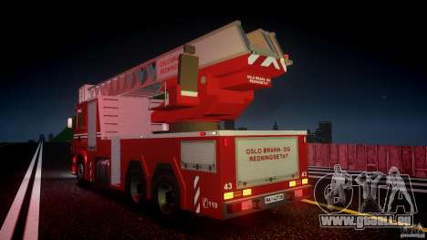 Scania Fire Ladder v1.1 Emerglights red [ELS] pour GTA 4 roues