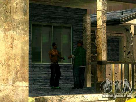 CJ's Freunde im Grove für GTA San Andreas dritten Screenshot