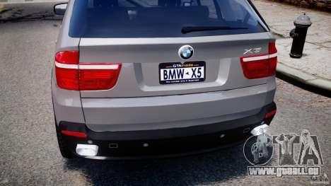BMW X5 xDrive 4.8i 2009 v1.1 pour GTA 4 est une vue de dessous