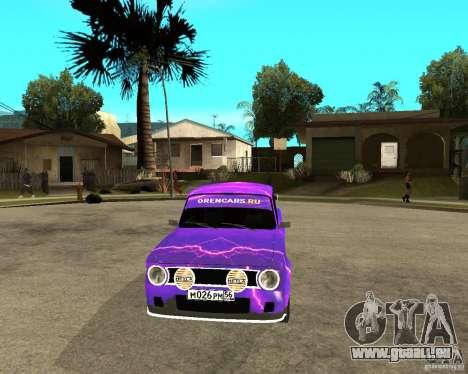 Porte double VAZ 2101 pour GTA San Andreas vue arrière