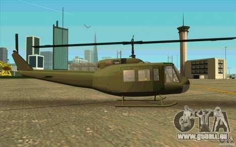 UH-1D Slick pour GTA San Andreas sur la vue arrière gauche