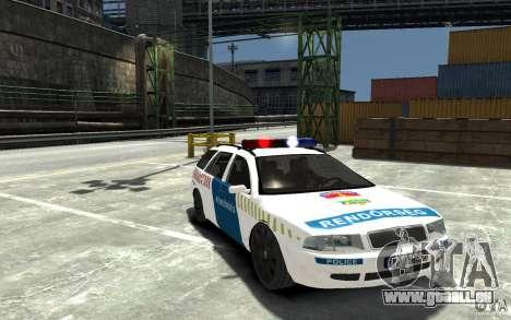 Skoda Octavia Kombi 2005 Hungarian Police pour GTA 4 Vue arrière
