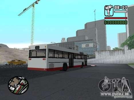 MAN SL 202 pour GTA San Andreas sur la vue arrière gauche