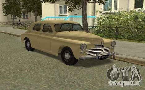GAZ M20 Pobeda 1949 für GTA San Andreas