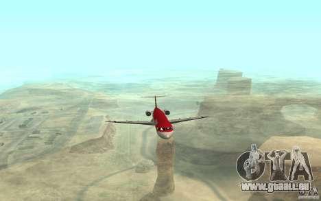 Fokker-100 für GTA San Andreas linke Ansicht