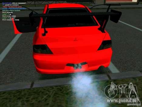 Mitsubishi Lancer Drift pour GTA San Andreas sur la vue arrière gauche