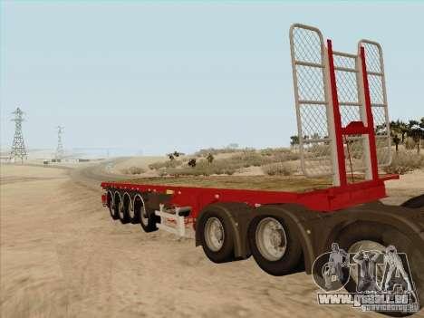 Remorque MAN TGX 8 x 4 pour GTA San Andreas laissé vue