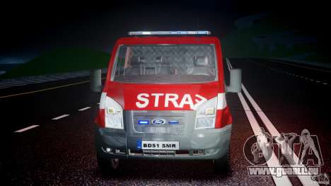 Ford Transit Polish Firetruck [ELS] für GTA 4 obere Ansicht