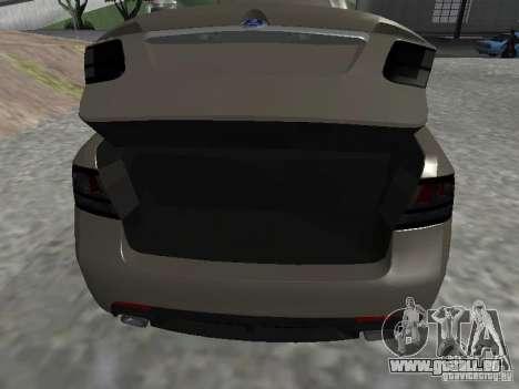 Saab 9-3 Turbo X pour GTA San Andreas vue arrière