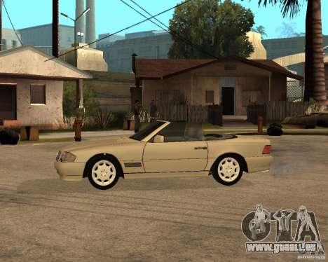 Mercedes-Benz 500SL pour GTA San Andreas laissé vue