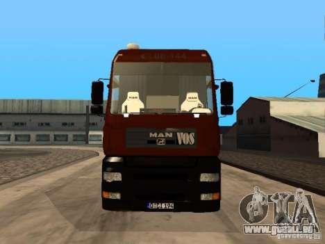 MAN TGA Vos Logistics pour GTA San Andreas laissé vue