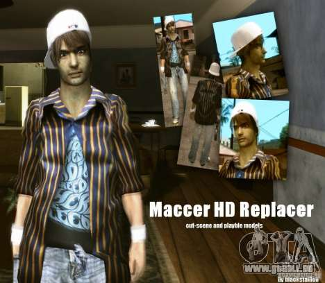 Maccer HD Replacer pour GTA San Andreas