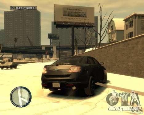 Ford Taurus Police Interceptor Stealth pour GTA 4 Vue arrière de la gauche