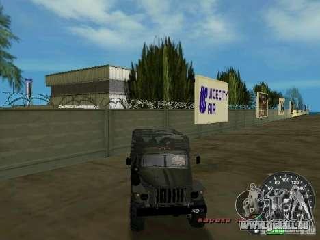 Ural 4320 Militär für GTA Vice City obere Ansicht