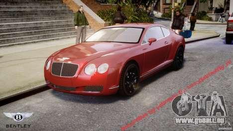 Bentley Continental GT 2004 pour GTA 4
