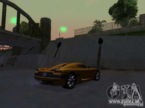 Koenigsegg CCX pour GTA San Andreas laissé vue