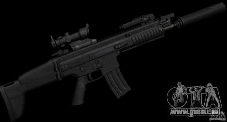 SCAR-L black pour GTA San Andreas