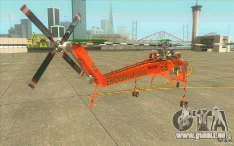 Sikorsky Air-Crane S-64E für GTA San Andreas zurück linke Ansicht