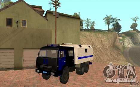 KAMAZ-Polizei für GTA San Andreas linke Ansicht