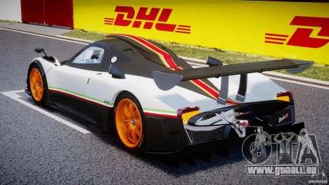 Pagani Zonda R 2009 Italian Stripes pour GTA 4 Vue arrière de la gauche