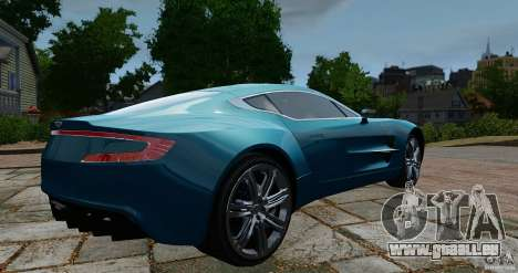 Aston Martin One-77 2012 für GTA 4 hinten links Ansicht