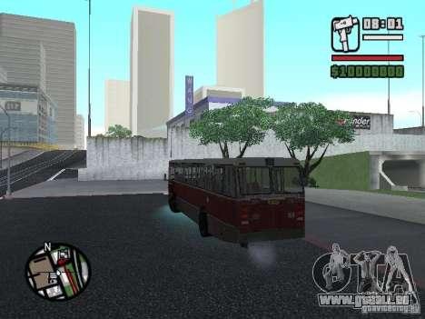 DAF CSA 1 City Bus pour GTA San Andreas vue intérieure