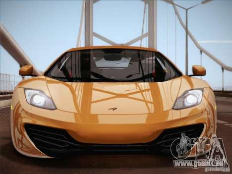 McLaren MP4-12C BETA pour GTA San Andreas salon