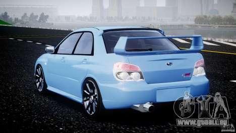 Subaru Impreza STI pour GTA 4 Vue arrière de la gauche