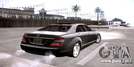 Mercedes-Benz S600 v12 pour GTA San Andreas sur la vue arrière gauche