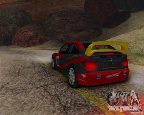 Citroen Xsara 4x4 T16 für GTA San Andreas zurück linke Ansicht