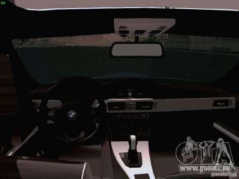 BMW M3 E90 Sedan 2009 pour GTA San Andreas vue intérieure