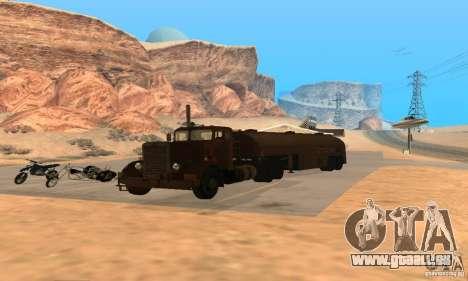 Duel Peterbilt pour GTA San Andreas vue de droite