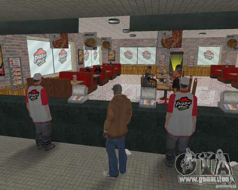 Nouvelles textures, des restaurants et des bouti pour GTA San Andreas douzième écran