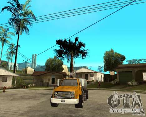 Camion de nettoyage pour GTA San Andreas vue arrière