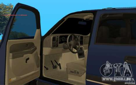 Chevrolet Suburban 2006 pour GTA San Andreas vue de droite