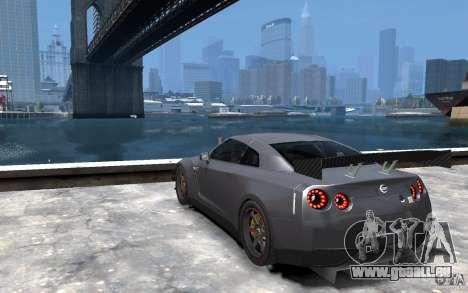 Nissan GT-R v1.1 Tuned für GTA 4 hinten links Ansicht