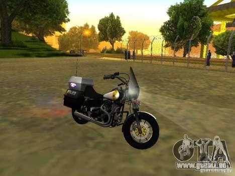 Harley Davidson Dyna Defender pour GTA San Andreas laissé vue