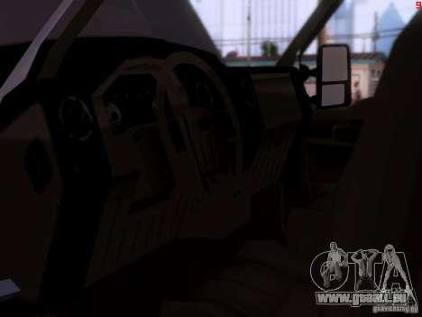 Ford F350 Super Dute pour GTA San Andreas vue arrière