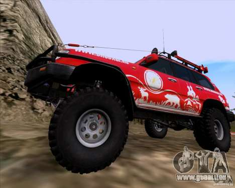 Toyota Land Cruiser 100 Off-Road für GTA San Andreas Rückansicht