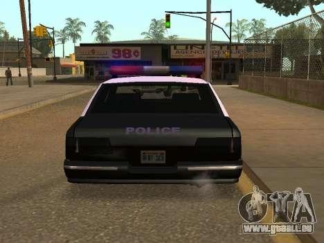 Police Los Santos für GTA San Andreas zurück linke Ansicht